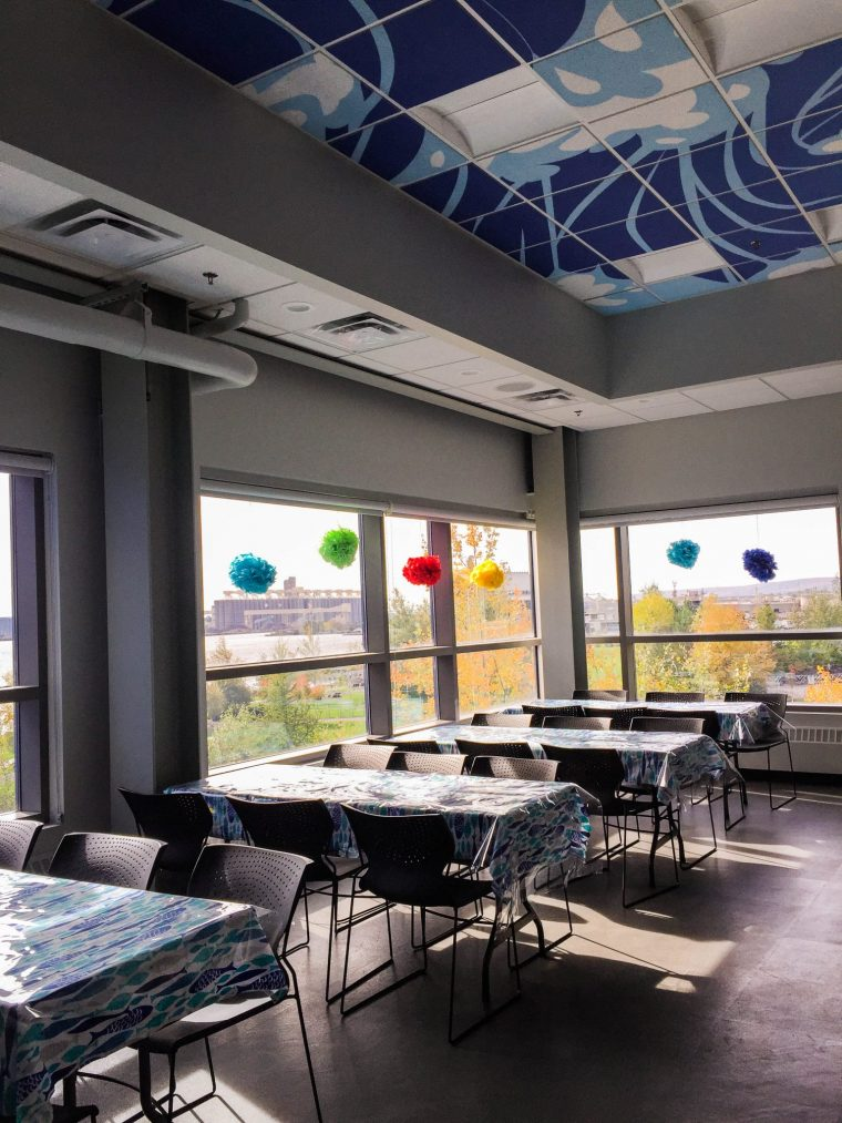 The Discovery Center set up for a birthday party.