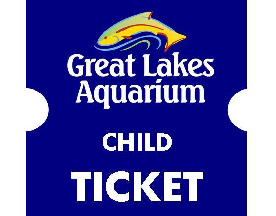 Child Ticket Age 3 12 Great Lakes Aquarium